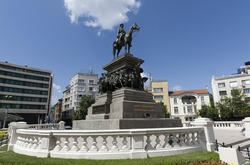 Restored monument of Tsar Alexander II of Russia in Sofia.