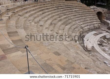 Restored Roman Theatre in Malaga, Spain