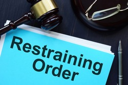 Restraining Order is shown on the conceptual photo