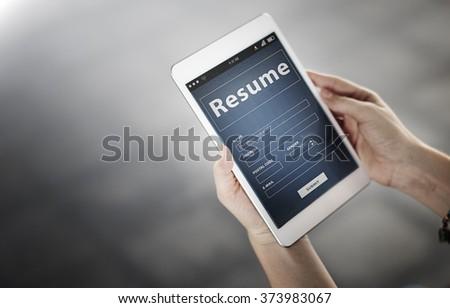 Resume Profile Personal Job Career Recruitment Concept #373983067