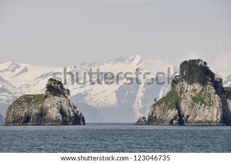 Resurrection Bay in Alaska - stock photo