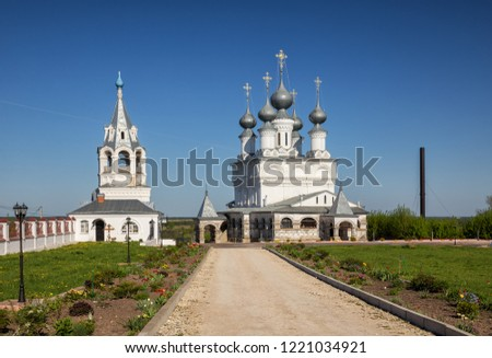 Resurrection Cathedral of 1658 and bell tower of Resurrection Monastery, Murom, Russia