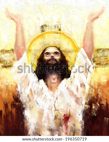 Resurrection of Jesus Christ digital painting Resurrection of Jesus Christ
