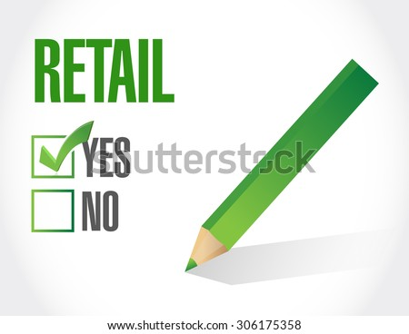 retail approval sign concept illustration design graphic