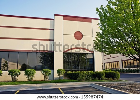 Retail Building - Commercial Building. Shipping Plaza, Industrial Area. Business Photo Collection.
