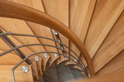retail of modern wooden spiral stairs