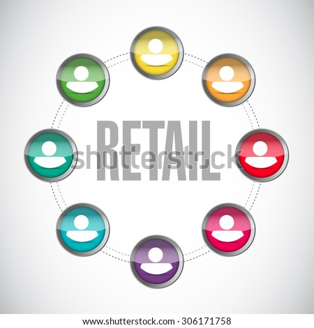 retail people connections sign concept illustration design graphic