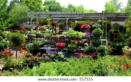 "Retail plant nursery stocked for the weekend ""do it yourself"" crowd"