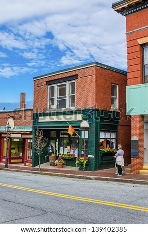 Retail Shopfront in a Small Town in Maine