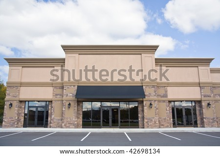 Retail storefront. #42698134