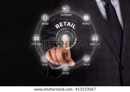 RETAIL TECHNOLOGY COMMUNICATION TOUCHSCREEN FUTURISTIC CONCEPT