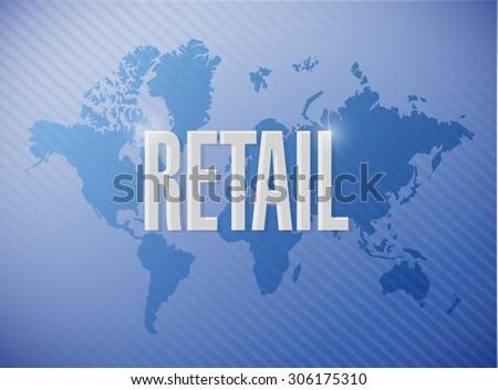 retail world map sign concept illustration design graphic