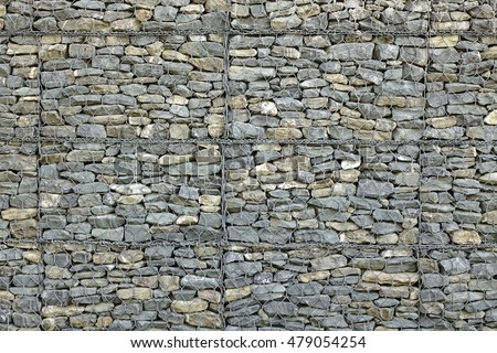 Free photos Wire Gabion Rock Fence. Metal Cage filled with rocks ...