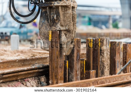 retaining wall steel sheet pile ...