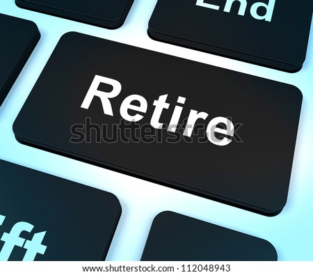 Retire Key Showing Retirement Planning Online