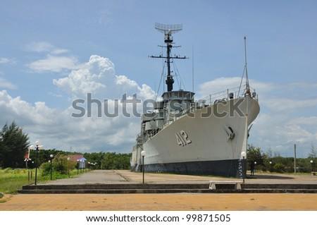Retired battleship in Thailand