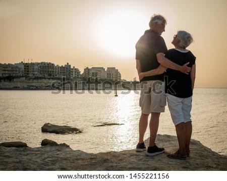 Retired couple enjoying life on Gozo island #1455221156