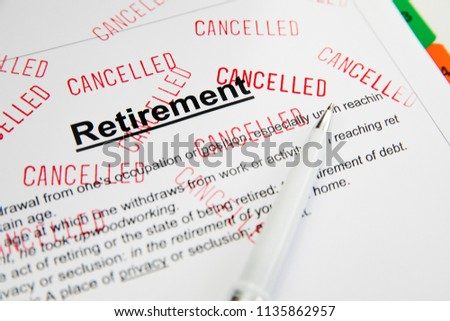 Retirement Problems  Financial problems in retirement. #1135862957