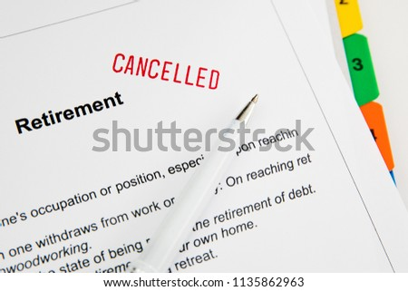 Retirement Problems  Financial problems in retirement. #1135862963