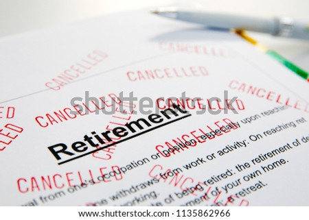 Retirement Problems  Financial problems in retirement. #1135862966