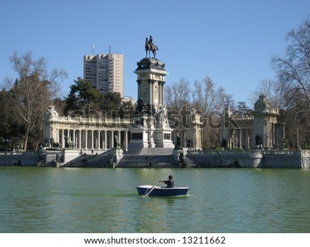 Retiro Park in Madrid, Spain