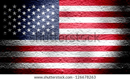 Reto national flag of Unites States in color