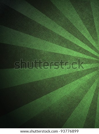retro abstract background illustration with brown and green sun burst or rays of light pattern with vintage dark vignette edges on frame border