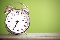 Retro alarm clock with retro colored