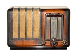 retro  and brown vintage radio
