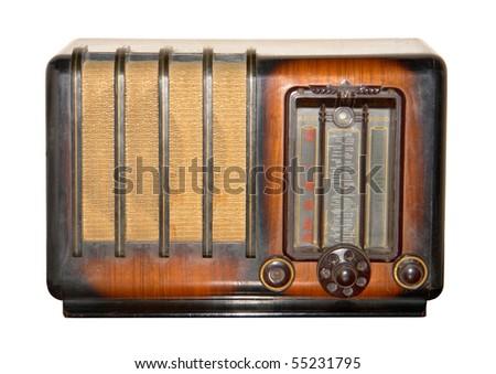 retro  and brown vintage radio