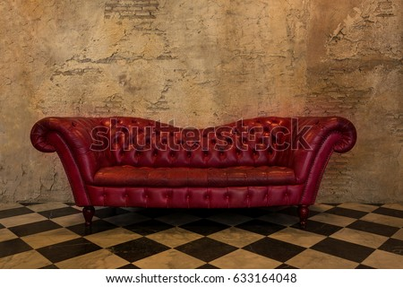 retro and luxurious armchair on ...
