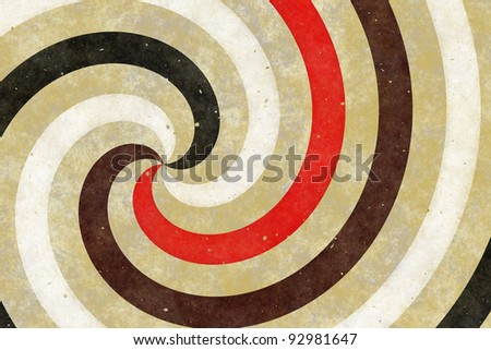Retro background of swirling stripes