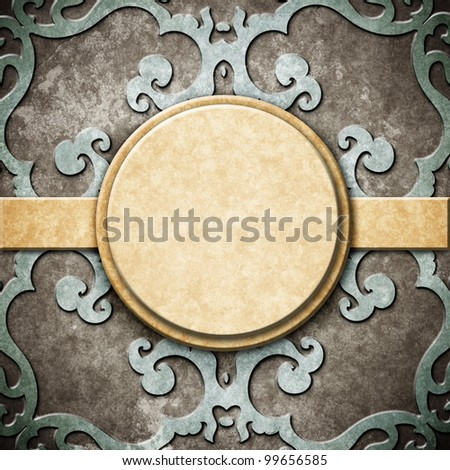 Retro background. Old paper greeting card