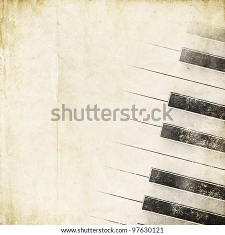 retro background with piano keys