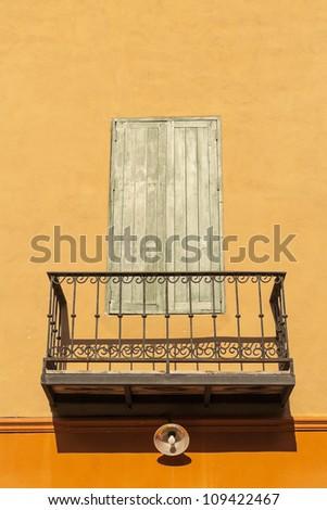 Retro balcony and window