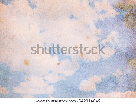 Retro Blue sky with clouds. The sky with clouds for background. Nature background