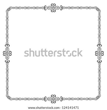 Retro border. Raster copy of vector image
