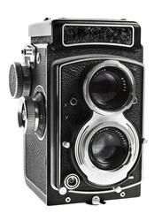 Retro camera on white