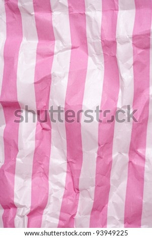 Retro candy stripe sweet bag abstract background