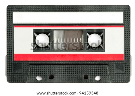 retro cassette tape isolated on white background