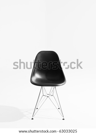 Retro chair isolated on white background