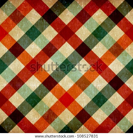 Retro checkered tablecloth seamless pattern background.
