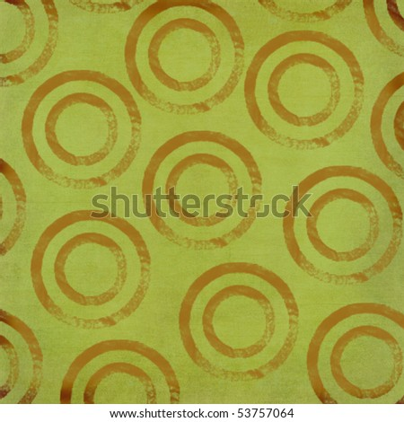 Retro Circles in Brown and Green