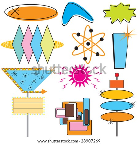 stock photo   retro clip art