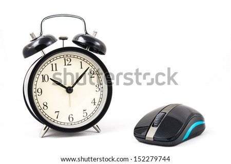 retro clock with mouse