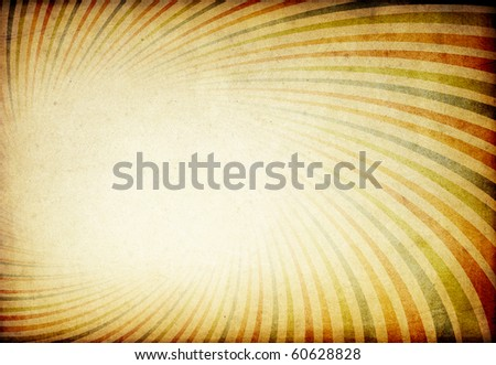 Retro colorful sunburst tunnel background. With space for text or image.
