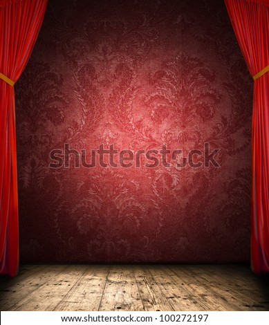 Retro curtain with stage