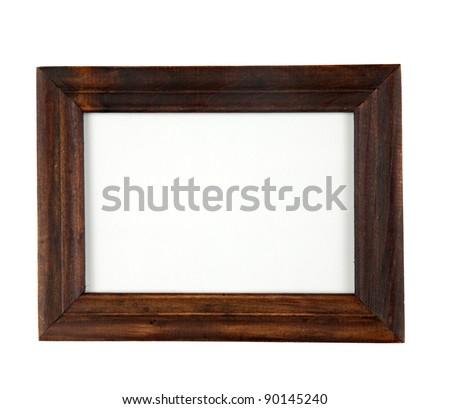 retro dark wood photo  frame