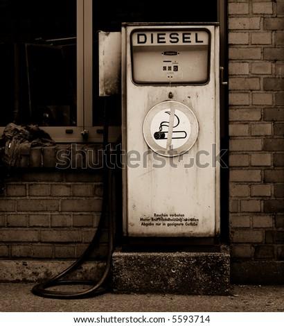 Retro diesel gas station #5593714
