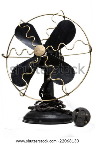Retro electric fan - stock photo
